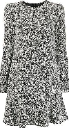 Michael Michael Kors Vestido Cady com estampa de leopardo - Preto
