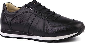 Doctor Shoes Antistaffa Sapatênis Masculino 4061 em Couro Floater Preto Doctor Shoes-Preto-38