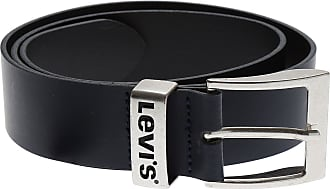 Levi s Mens Belts On Sale, Dark Navy Blue, Leather, 2017, 100 b9b3d8fa062