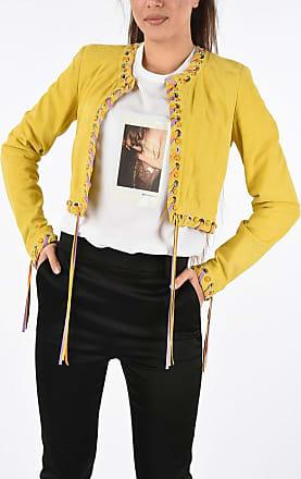 Just Cavalli Suede Leather Crop Jacket size 38