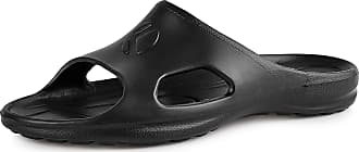 Ladeheid Mens EVA Slippers House Shoes KL039M (Black, 10.5 UK)