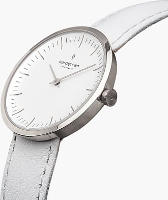 Nordgreen Infinity - White Leather - 32mm / Silver