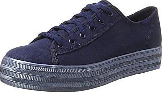7173c66b Keds Tpl Kick Shimmer Can. - Zapatos Planos con Cordones Mujer, Color Azul,