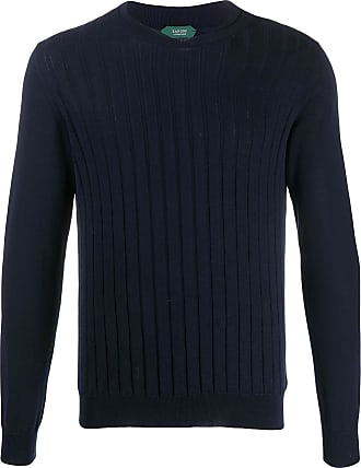 Zanone vertical knit jumper - Blue