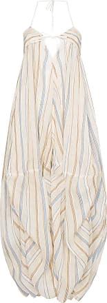 Jacquemus Vestido longo com bordado - Neutro