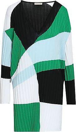 Emilio Pucci Emilio Pucci Woman Color-block Ribbed-knit Mini Dress Green Size L