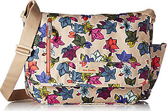 Vera Bradley Lighten Up Laptop Messenger Messenger Bag, Falling Flowers Neutral, One Size