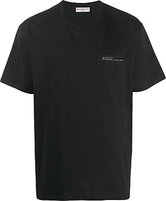 Givenchy Camiseta com logo e e acabamento de fita - Preto