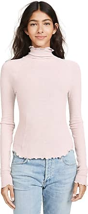 Free People Womens Pink Make It Easy Mock Neck Thermal Long Sleeve Top Size: XS
