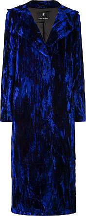 Unreal Fur textured single-breasted coat - Blue