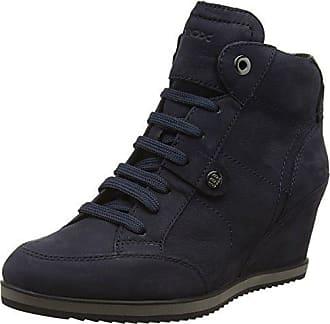 d140c87667a19d Geox D D Illusion A, Sneakers Hautes Femme, Blau (DK NAVYC4021), 40