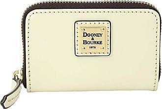 Dooney & Bourke Selleria Zip Around Credit Card Case (Bone/Bone Trim) Credit card Wallet