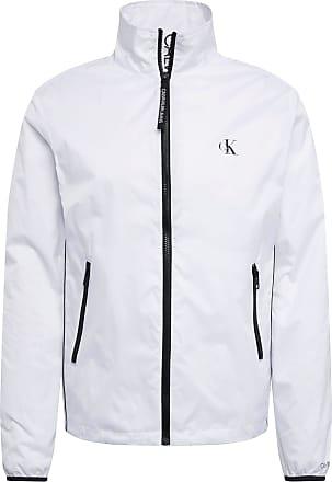Calvin Klein Jeans Jacke NYLON HARRINGTON weiß / schwarz