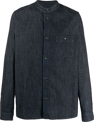 A.P.C. Camisa jeans com gola padre - Azul