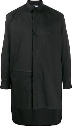 Yohji Yamamoto Camisa assimétrica mangas longas - Preto