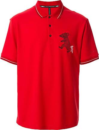 Blackbarrett Camisa polo com estampa de rato - Vermelho