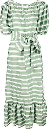 327f99dc61e73 Lisa Marie Fernandez Vestito lungo a righe - Di Colore Verde