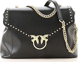 Pinko Top Handle Handbag On Sale, Black, Leather, 2017, one size