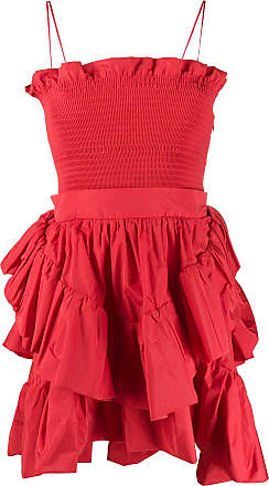 Philosophy di Lorenzo Serafini smocked waist ruffled dress - Red