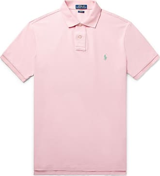 Polo Ralph Lauren Slim-fit Cotton-piqué Polo Shirt - Pink