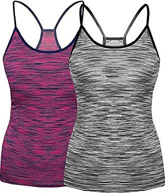 2 Damen Tank Tops oder Sport Tops mit Ringerrücken Träger Shirt TOP Sommer