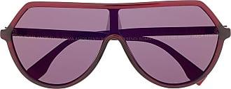Fendi Óculos de sol oversized FF - Vermelho