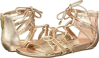 Kenneth Cole Reaction Womens 7 Lost Look Gladiator Laceup Sandal, Light Gold, 6.5 M US