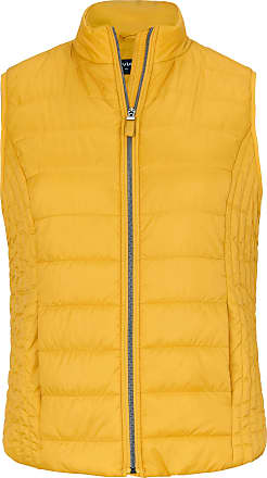 Via Appia Due Quilted waistcoat zip fastener Via Appia Due yellow