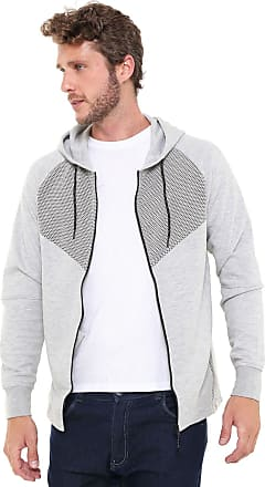 Jack & Jones Moletom Aberto Jack & Jones Sweat Male Cinza