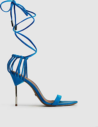 Reiss Zhane - Suede Strappy Wrap Sandals in Cobalt Blue, Womens, Size 6