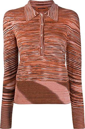 Missoni Camisa polo com estampa abstrata - Laranja