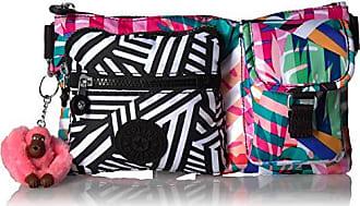 Kipling Presto Convertible Waist Pack, Multi Pocket, Zip Closure, Black Print Combo