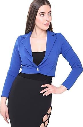 Momo & Ayat Fashions Ladies Cropped One Button Blazer Shrug Jacket UK Size 8-14 (Royal Blue, UK 6 (EUR 34))