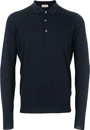 John Smedley Belper knitted polo shirt - Azul