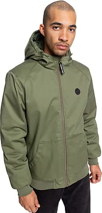 DC Shoes Ellis - Water Resistant Hooded Jacket - Men Fatigue Green