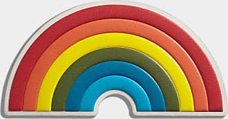 Anya Hindmarch Oversized Rainbow Sticker Capra in Chalk
