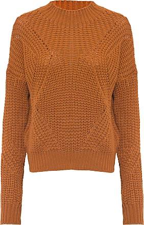 Dress To Blusa Pull Tricot Desenho Geométrico - Marrom