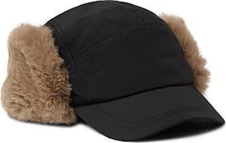 21FASHION Mens Russian Trapper Hat with Soviet Badge Unisex Faux Fur Ushanka Cossack Flaps Hat