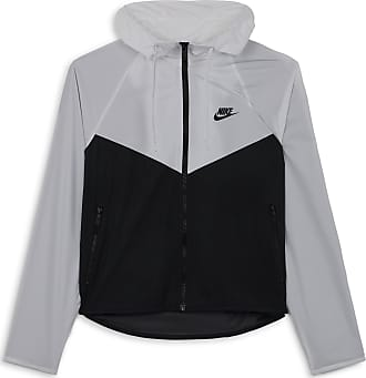 veste nike windrunner noir avec des rayures blanches