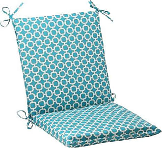 Pillow Perfect Outdoor Hockley Squared Chair Cushion, Teal