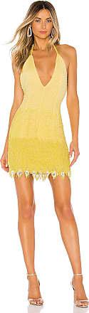 X by NBD Julana Embellished Mini Dress in Yellow