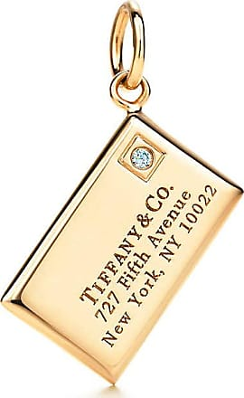 Tiffany & Co. Envelope charm with a diamond in 18k gold