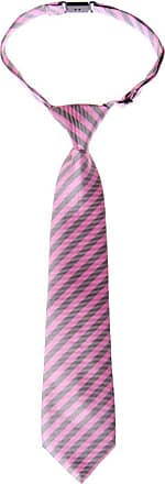 Retreez Striped Woven Pre-tied Boys Tie - Pink and Grey Stripe - 4-7 years