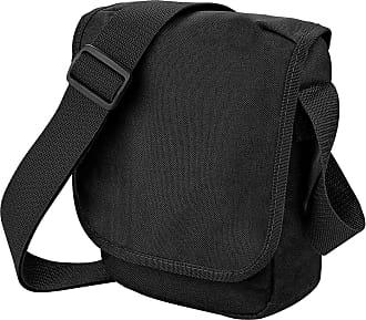 BagBase Bagbase Unisex Adults Mini Reporter Bag Black One Size