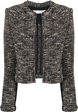Iro embroidered fitted jacket - Grey