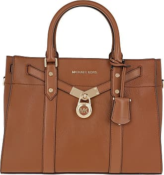 Michael Kors Tote - Nouveau Hamilton Lg Satchel Luggage - cognac - Tote for ladies