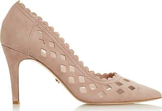 Dune London Dune Ladies Womens ALORAA Cut-Out High Heel Court Shoes Size UK 3 Blush Stiletto Heel Suede Court Shoes