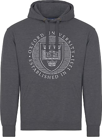 Oxford University Official Distressed Crest Hoodie - Charcoal - X Large