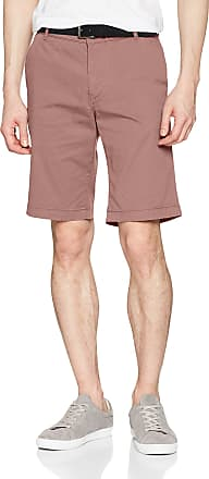 Selected Homme Mens Slhstraight-Paris Bwood St Shorts Noos W, Red (Burlwood), 36R (Size: Small)