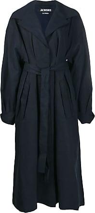 Jacquemus Trench coat oversized com cinto - Azul